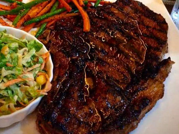 US Black Angus Prime Rib / Rib Eye Steak Meal