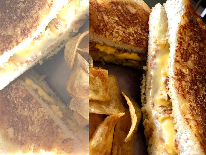 Three Cheese Grilled Sandwich