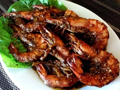Singaporean Pepper Prawns