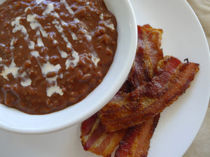 Malagos Champorado with Bacon