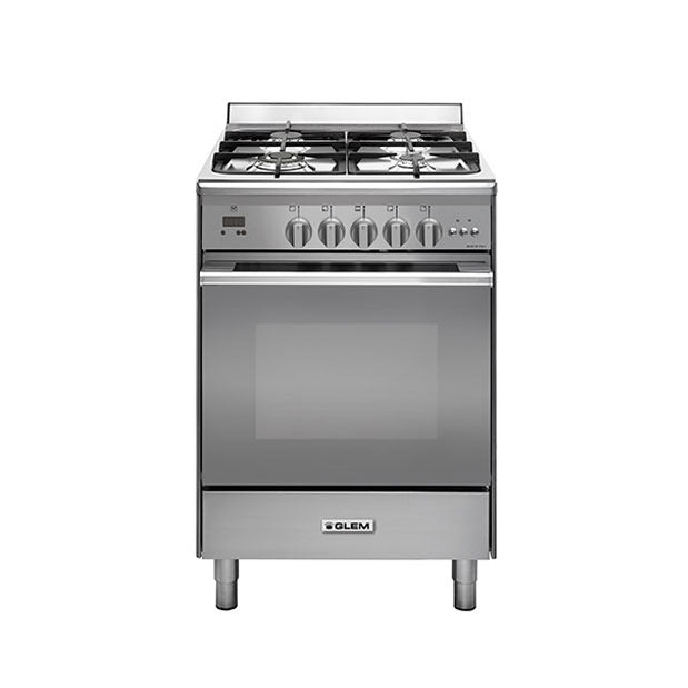 Glem UN664MVI 60Cm All Gas Stainless Steel Cooker
