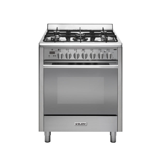 Glem UN765GGEI 70Cm Stainless Steel Bi Energy Cooker