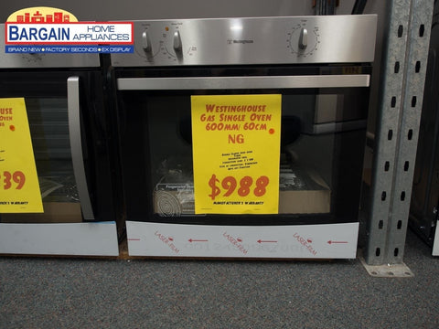 Westinghouse WVG613S 60cm Stainless Steel NG Wall Oven