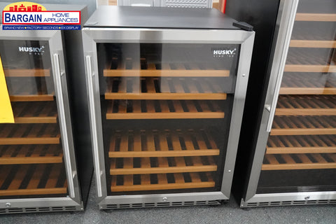 Husky HUS-WC54D-ZY-R 154L Dual Zone Wine Fridge in Stainless Steel
