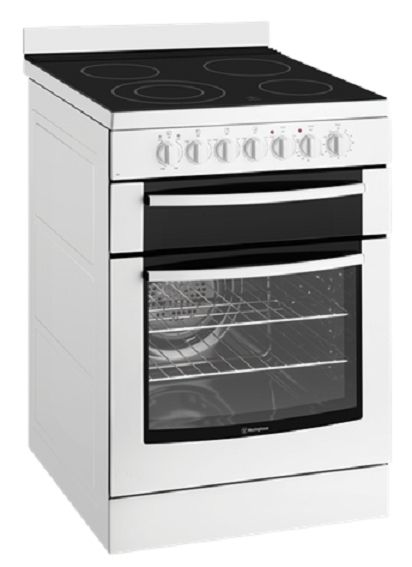 Westinghouse WFE647WA White 60cm Electric Oven with Ceramic Hob - Bargain Home Appliances