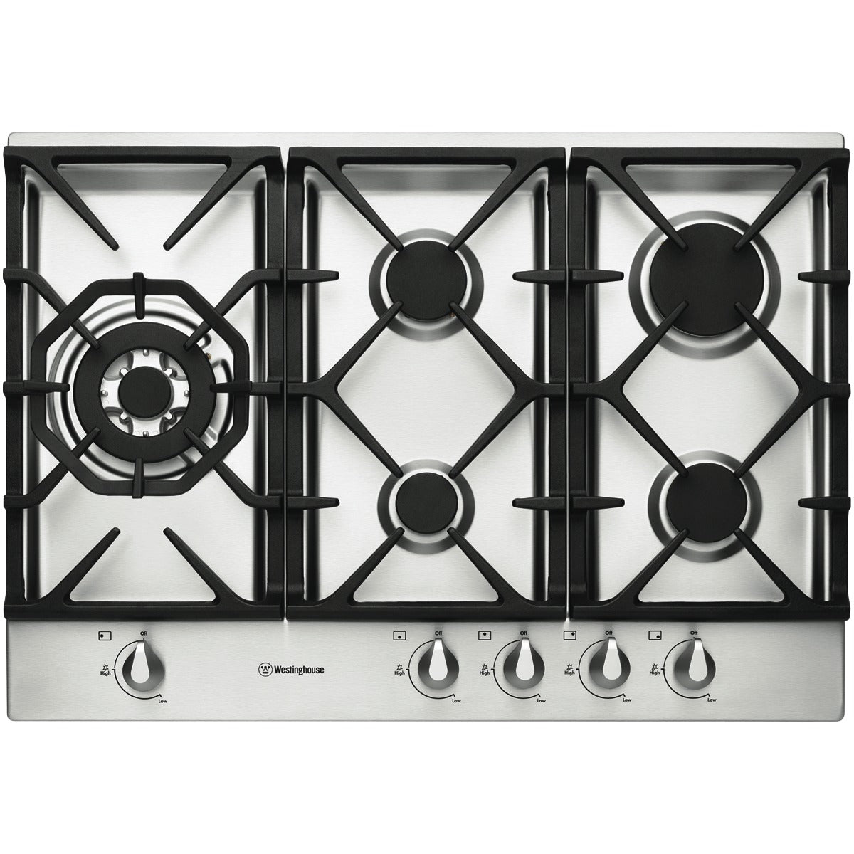 Westinghouse WHG756SA 75cm Stainless Steel Gas Cooktop