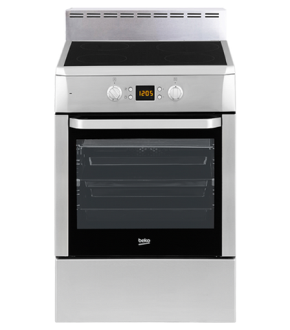 Beko Csm89300GX 60Cm Stainless Steel Free Standing Cooker With Induction Cooktop