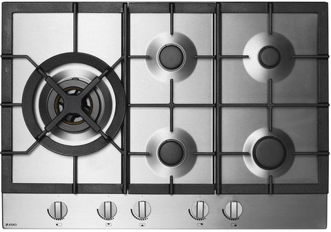 ASKO HG1774S 75cm Gas Stainless Steel Cooktop