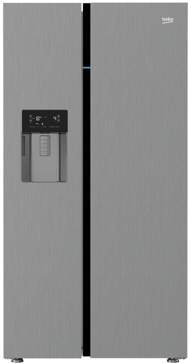 Beko BSB631DX 631 L Stainless Steel Side by Side Fridge with Ice & Water