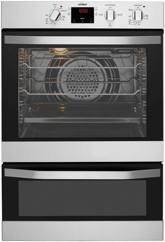 Chef CVE624SA 60cm Electric Duo Wall Oven