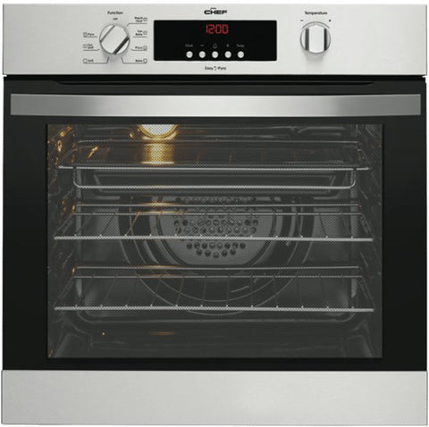 Chef CVEP614SA 60cm Multifunction Pyrolytic Oven