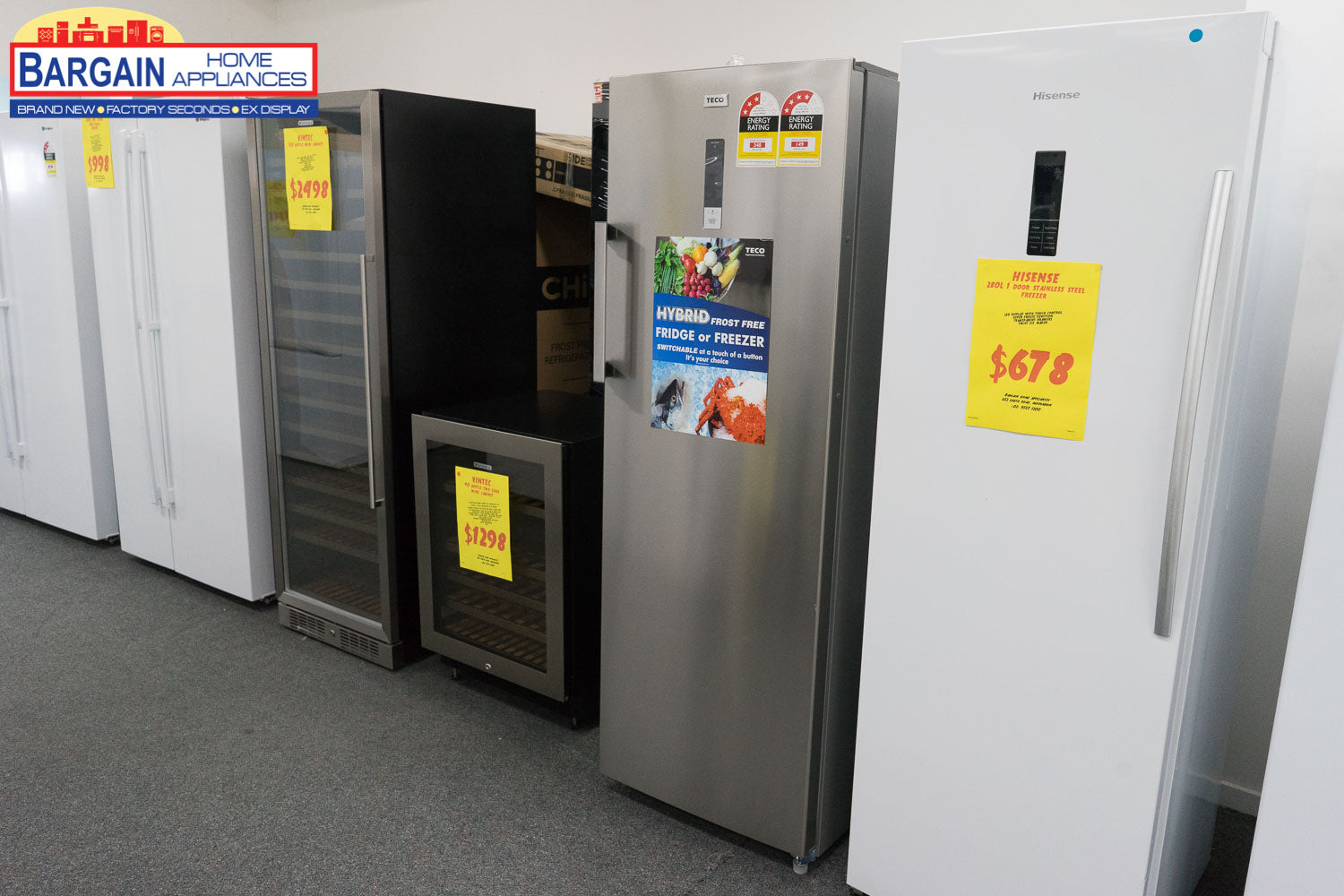 Teco THF268SNTAM 268L Stainless Steel Hybrid Fridge or Freezer - Bargain Home Appliances