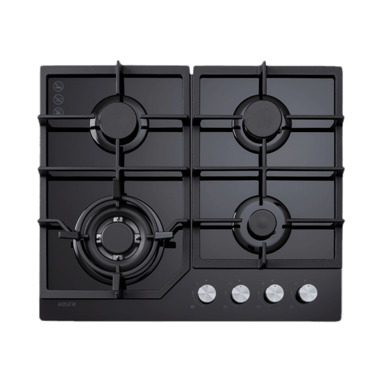 Euro ECT600GBK 60cm Gas on Glass Cooktop