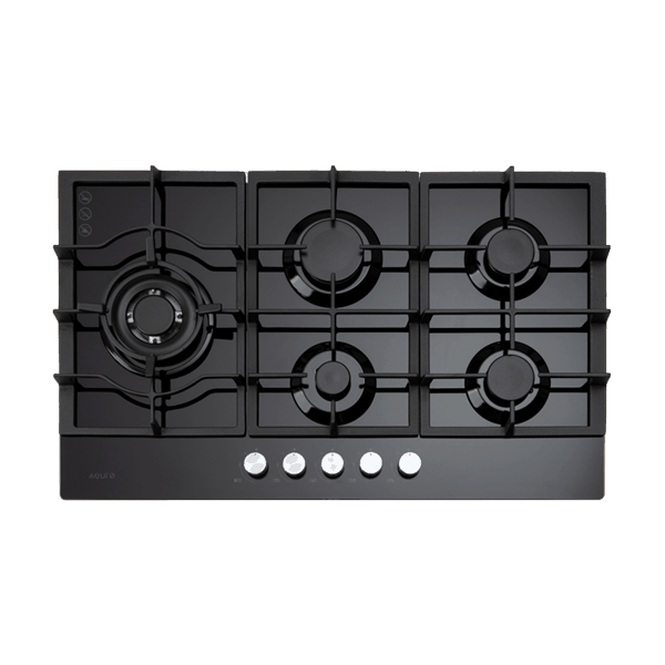 Euro ECT900GBK 90cm Gas on Glass Cooktop