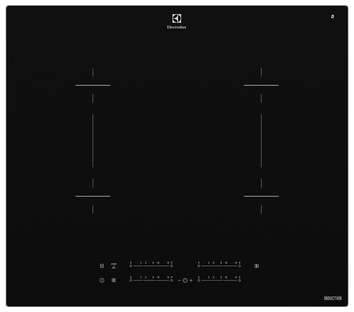 Electrolux EHI645BA Induction 60CM 4 Zone Black Ceramic Cooktop