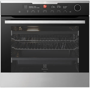 Electrolux EVEP618SC 80L Pyrolytic Multifunction S/Steel 60cm Oven - Bargain Home Appliances