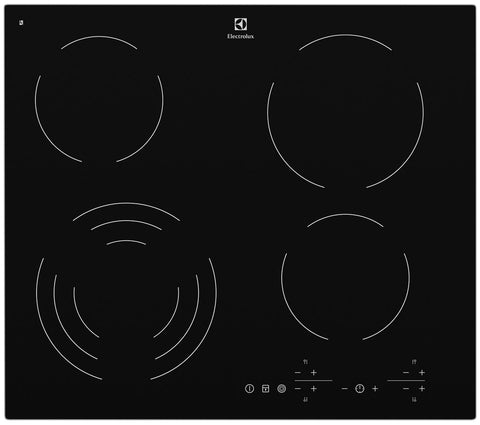 Electrolux EHC644BA 60cm 4 Zone Electric Cooktop with Touch Controls