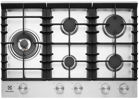 Electrolux EHG755SA Gas Cooktop 75CM Stainless Steel With 5 Burners