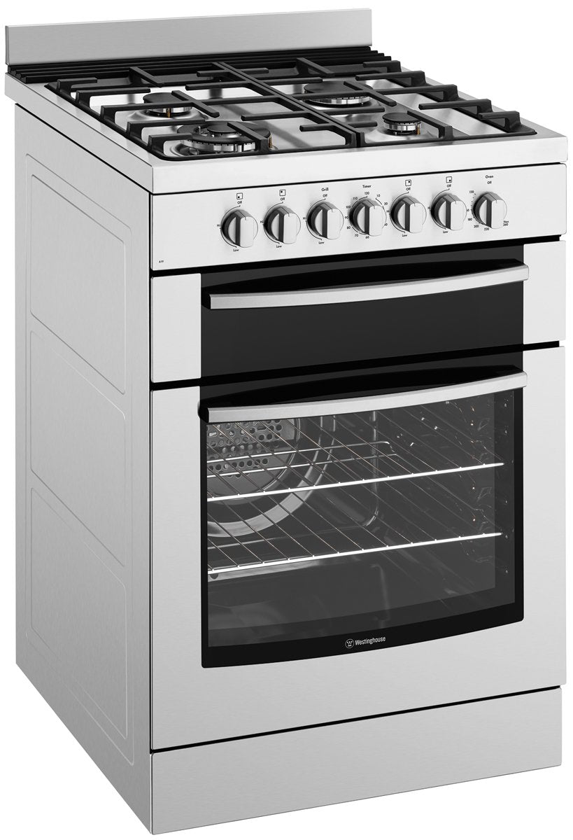 Westinghouse WFE619SA 60cm Electric Oven with Gas Hob