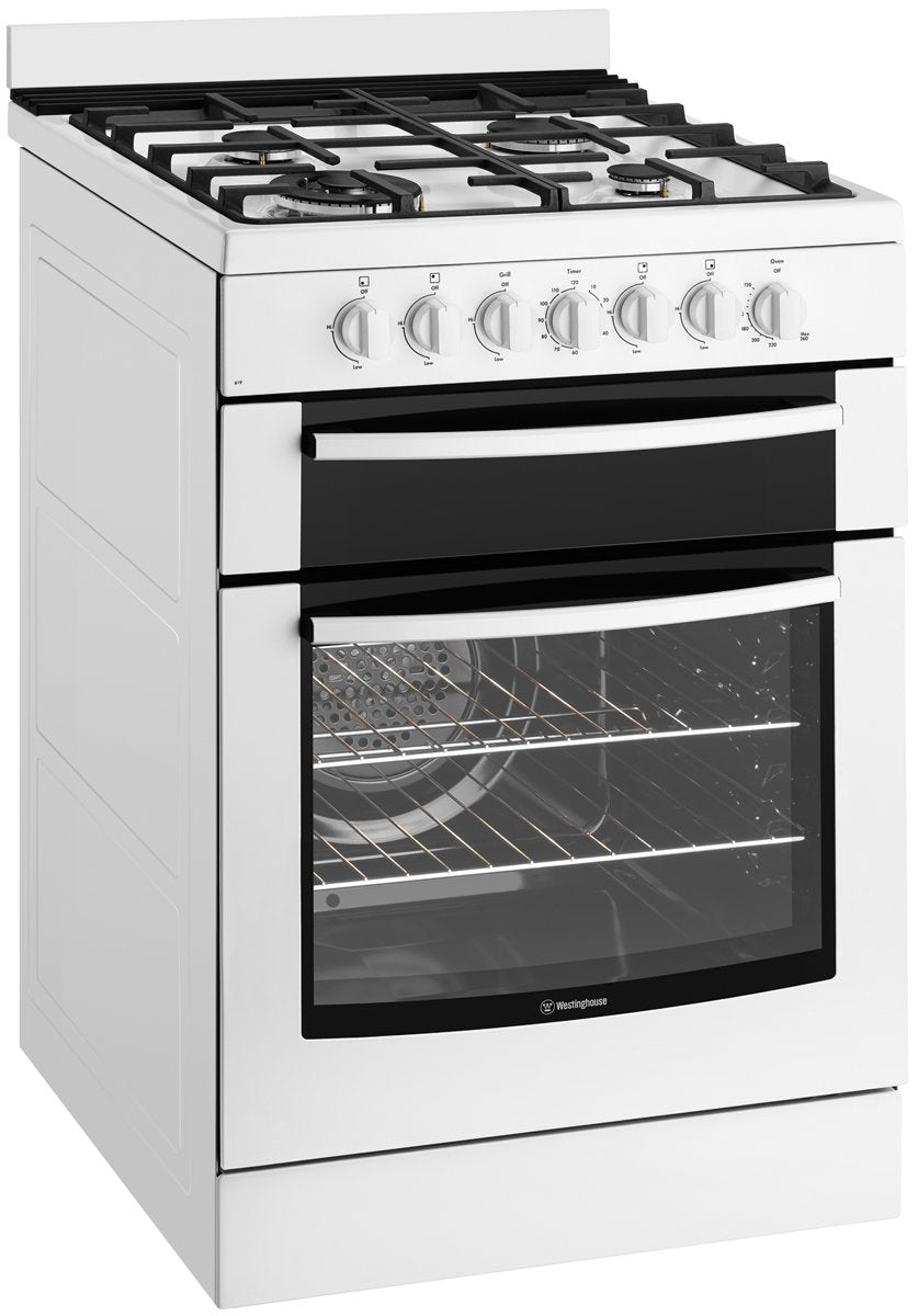 Westinghouse WFE619WA 60cm Electric Oven with Gas Hob