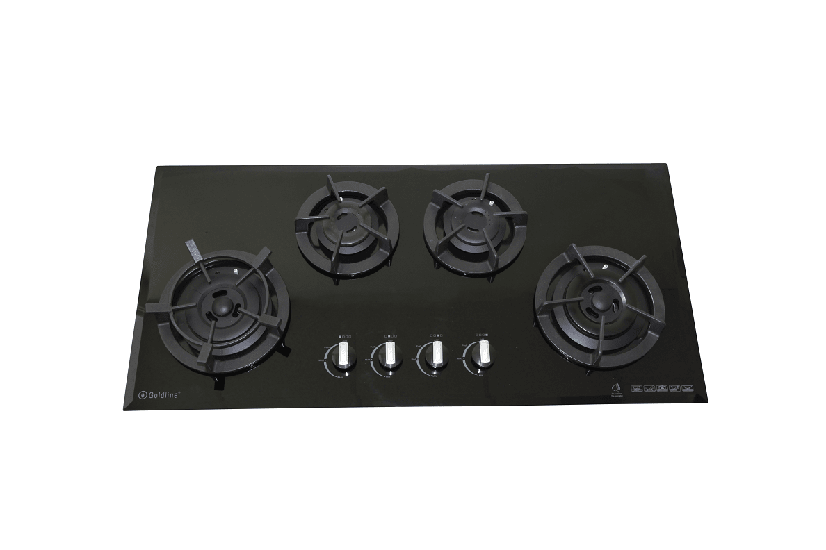 Goldline GL4BZNG 4 Burner NG Glass Cooktop