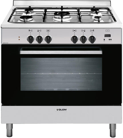Glem GL965EI 90cm Stainless Steel Cooker with Fan Forced Electric Oven