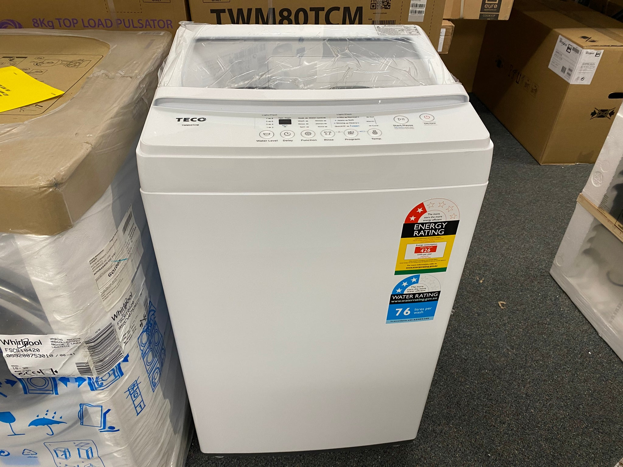 TECO TWM55TCM 5.5KG TOP LOAD WASHING MACHINE