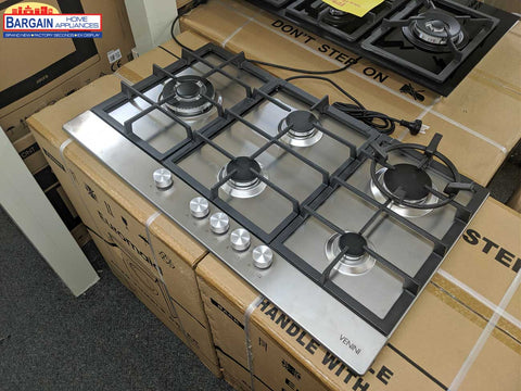 Venini VCG95 90cm Stainless Steel Gas Cooktop