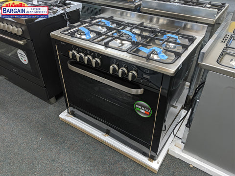 Emilia DI965EN4 90cm Black Dual Fuel Cooker with Electric Oven