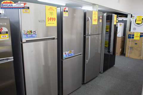 Beko Rcna340K30ZX 320L S/Steel Bottom Mount Fridge