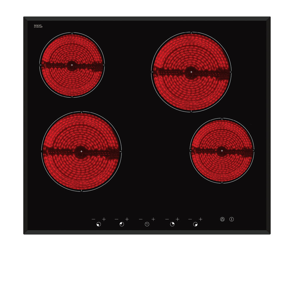 Inalto ICC604TB 60cm Ceramic Cooktop, Touch Controls