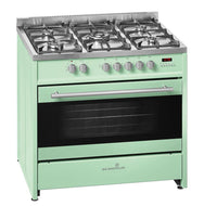 Scandium SCU900LG 90cm Upright Dual Fuel Cooker (Light Green) - Bargain Home Appliances