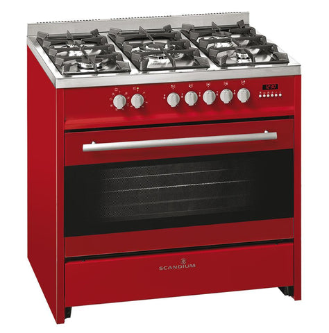 Scandium SCU900R 90cm Upright Dual Fuel Cooker (Red)