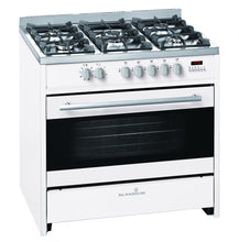 Load image into Gallery viewer, Scandium SCU900W 90cm White Freestanding Dual Fuel Oven/Stove - Bargain Home Appliances