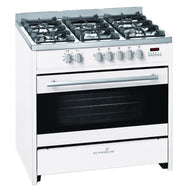 Scandium SCU900W 90cm White Freestanding Dual Fuel Oven/Stove - Bargain Home Appliances