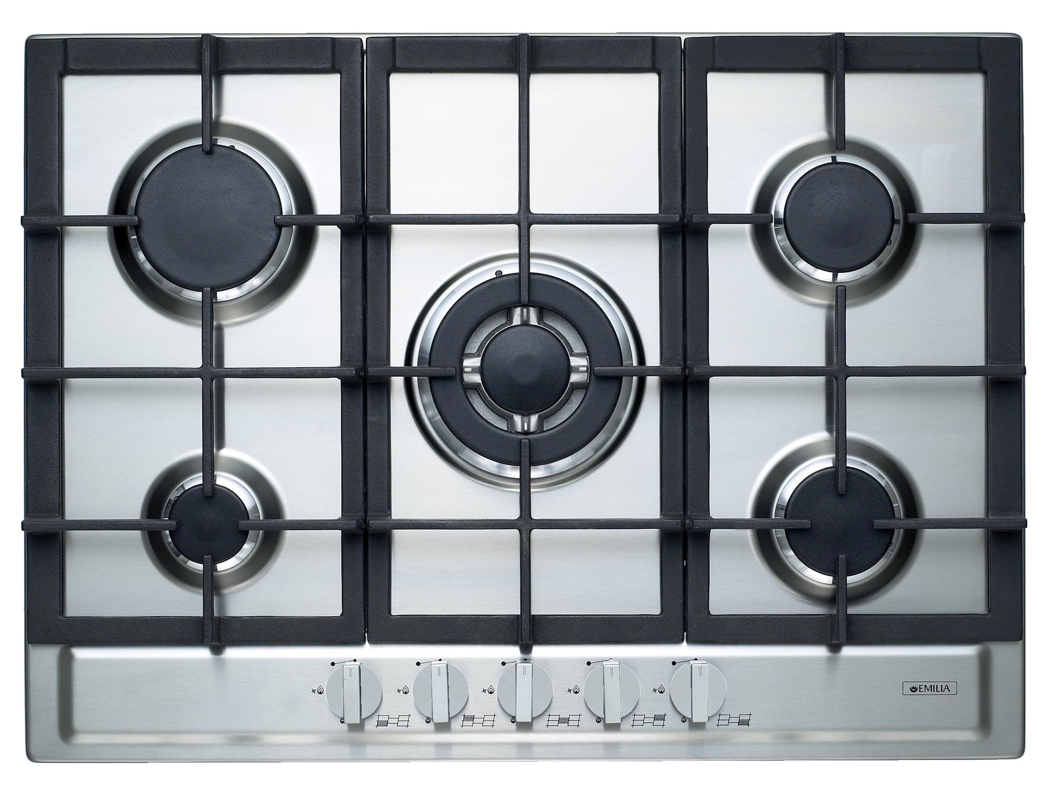Emilia SEC75GWI 70cm Stainless Steel Gas Cooktop
