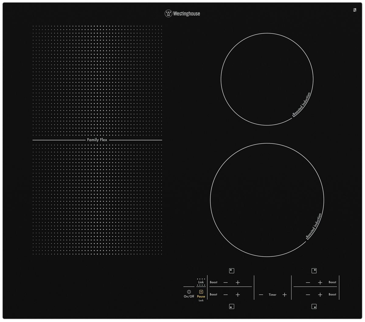 Westinghouse WHI645BA 60cm FamilyFlex Induction Cooktop