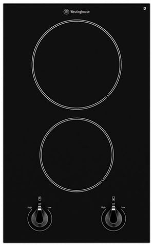 Westinghouse WHC322BA 30cm 2 Zone Electric Ceramic Cooktop