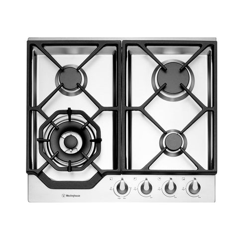 Westinghouse WHG646SB 60cm Stainless Steel Gas Cooktop