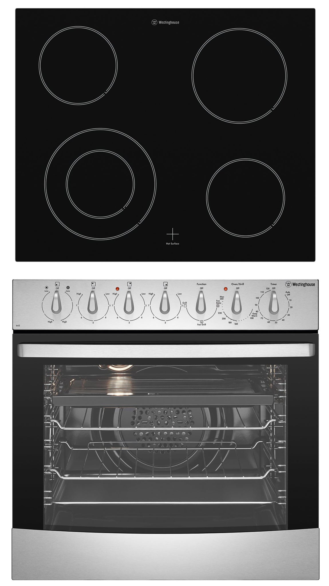 Westinghouse WVE645S Stainless Steel Fan Forced Oven & Cooktop