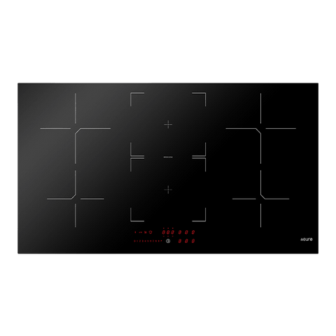 Euro E900IDB 90cm Induction Cooktop Black Glass