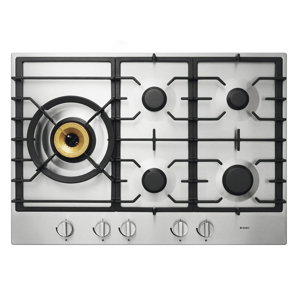 ASKO HG1776SD 75cm Gas Cooktop Stainless Steel