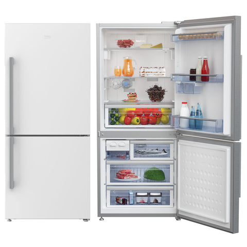 Beko CN151140ZW 505L White Bottom Mount Fridge