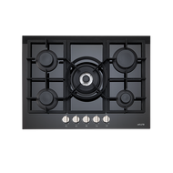 Euro ES700GFDBL 70cm Gas on Ceramic Cooktop - Bargain Home Appliances