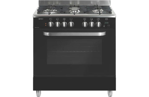 Emilia DI865EN4 80cm Black Dual Fuel Cooker with Electric Oven