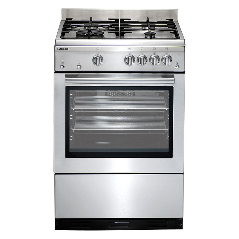 Euromaid GEGFS60 Stainless Steel Gas Oven + Gas Cooktop - Bargain Home Appliances