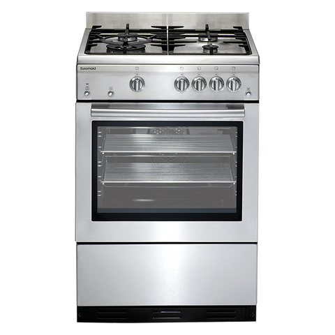 Euromaid GEGFS60 Stainless Steel Gas Oven + Gas Cooktop