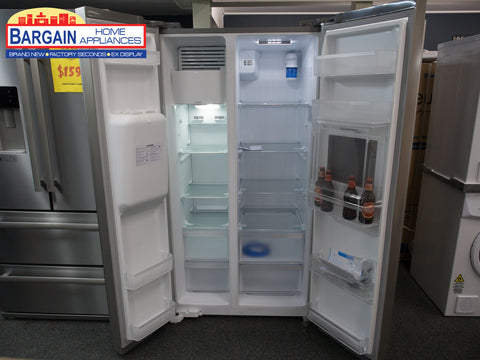 Euro ESBS567MSX 567L Side By Side Stainless Steel Finish Fridge