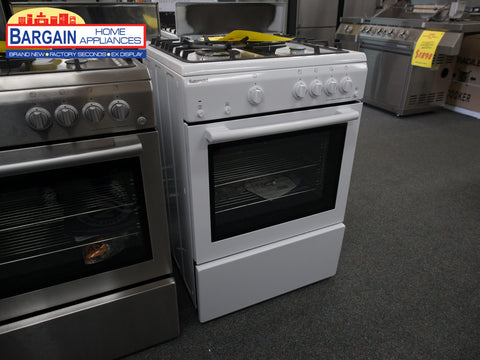 Euromaid GEGFW60 White Freestanding Gas Oven + Gas Cooktop