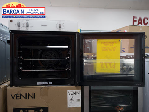 Westinghouse WVES613W-R Right Hand Opening Single Oven White Fan Forced